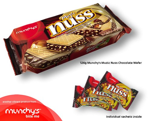 """munchys world of wafers Munchy's made its debut on the shelves with """"yesss"""", a wafer product in 1993   60 countries around the world and in over 20,000 retail outlets in malaysia."""