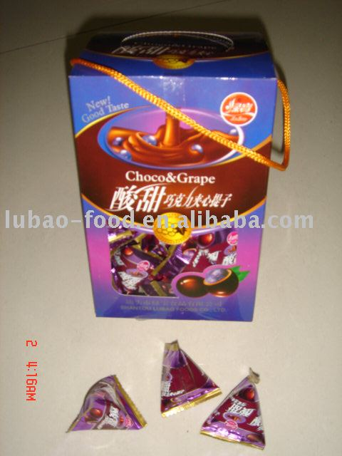 Triangle pack Raisin coated with Chocolate