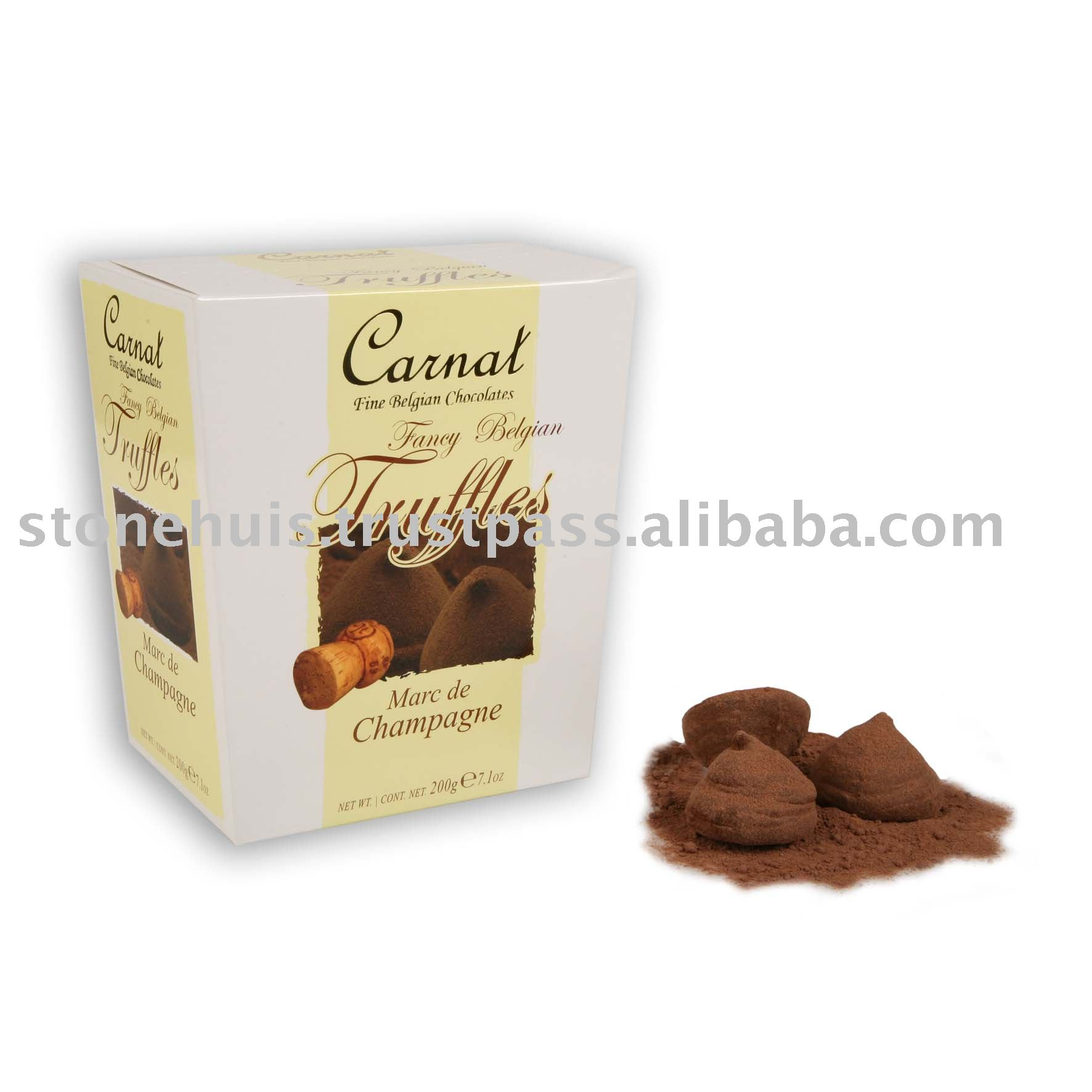 Belgian Chocolates Truffles - Champagne flavour products ...