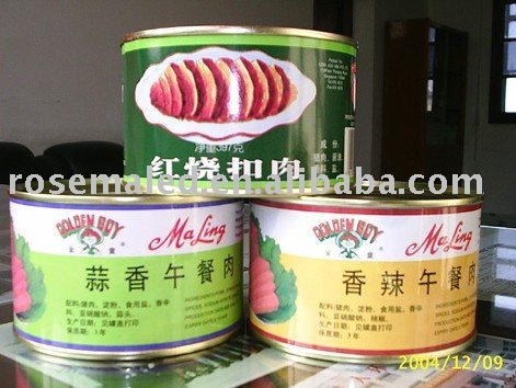 canned pork luncheon meat  in China at a low price from factory