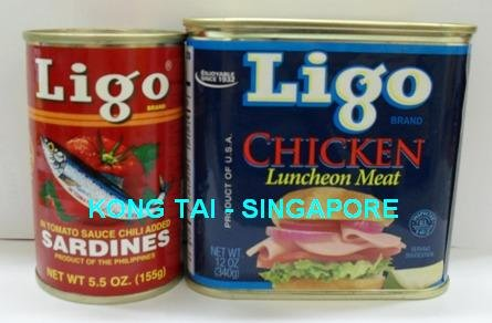 LIGO Chicken Luncheon Meat, Sardines
