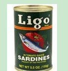 Ligo Sardines in Tomato Sauce - Chili Added 5.5 oz.