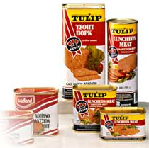 CANNED   MEAT   PRODUCTS  CHICKEN LUNCHEON  MEAT , 200gr
