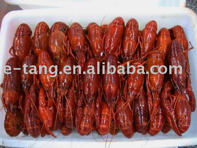 Frozen whole cooked crawfish