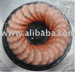 Frozen raw, cooked, shrimp ring, skewer shrimp