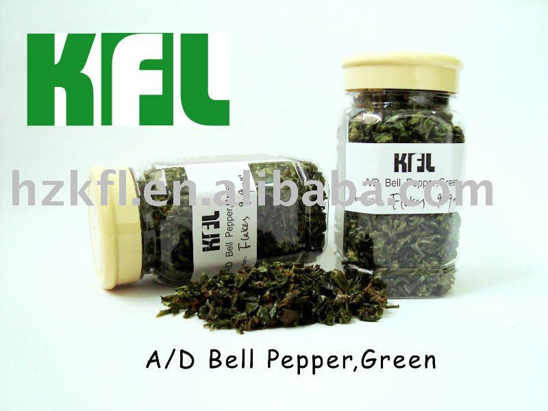 Dried Green Bell Pepper