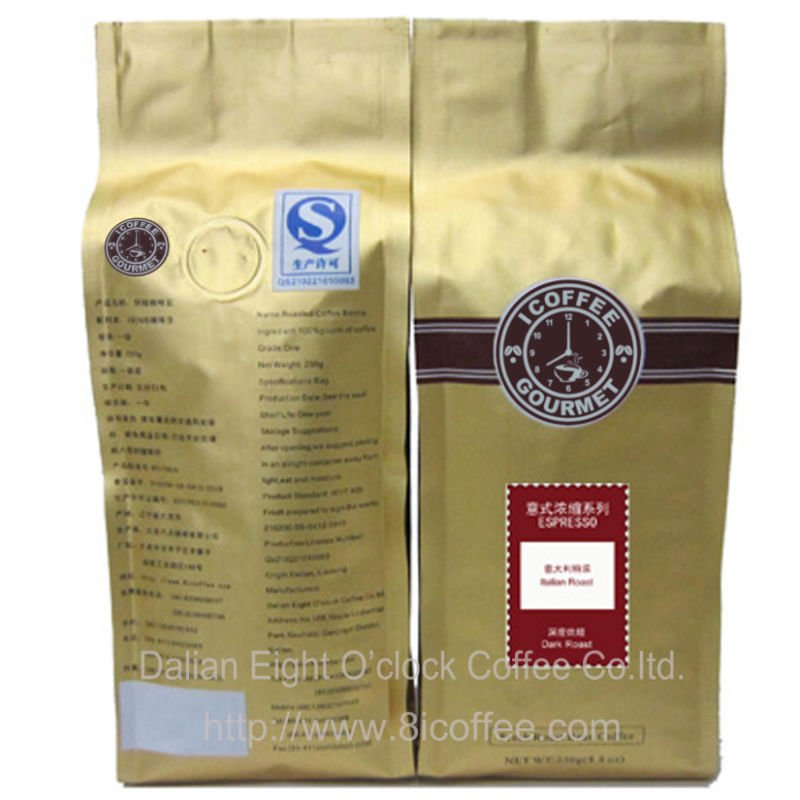 Italian Roast Coffee Bean darker intense 100% Arabica