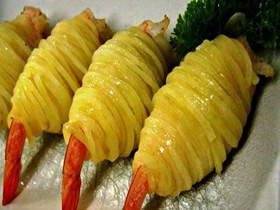 Steamed Potato Shrimp