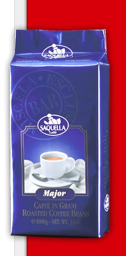 "ITALIAN ROASTED COFFEE BEAN SAQUELLA - ""MAJOR"""