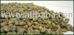 green washed arabica coffee