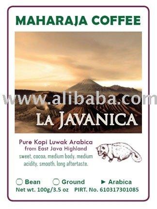 La Javanica Roasted Arabica  kopi   luwak   coffee  bean