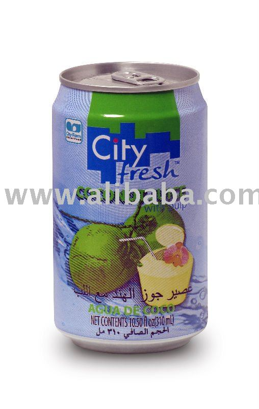 Canned Coconut Juice with pulp