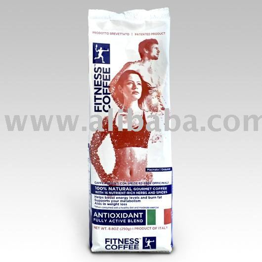 Italian Fitness Coffee with Selected Healthy Herbs and Spices