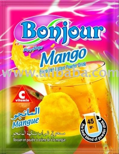 flavoured instant drink with mango