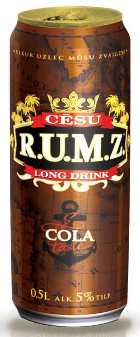 RUM COLA LONG DRINK 500 ML. CAN 5% VOL. products,Spain RUM COLA LONG ...