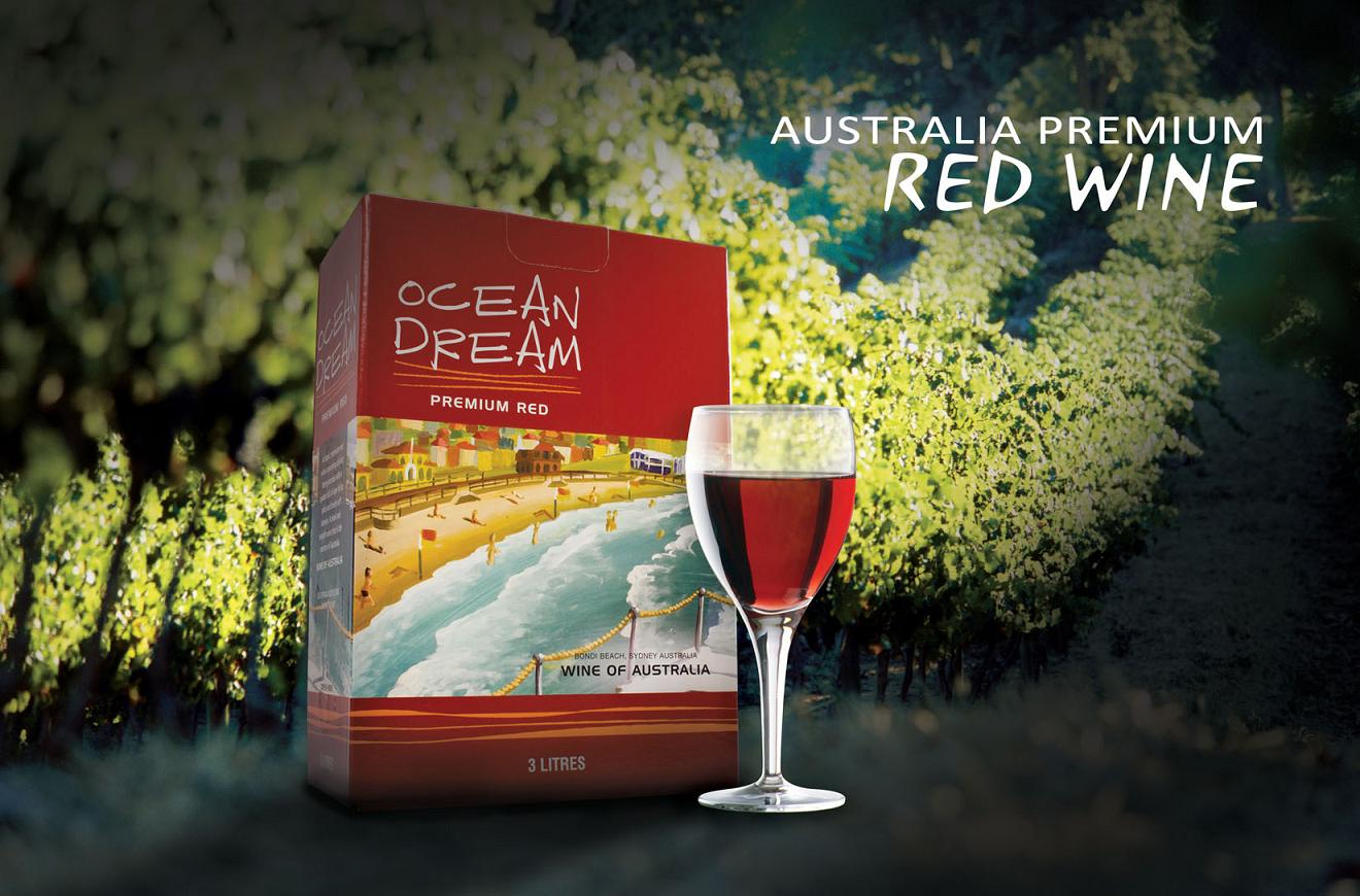 Ocean  Dream-Red Wines In Cask ( Bag -In Box)
