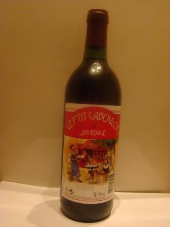 Le P'tit Caboulot Wine