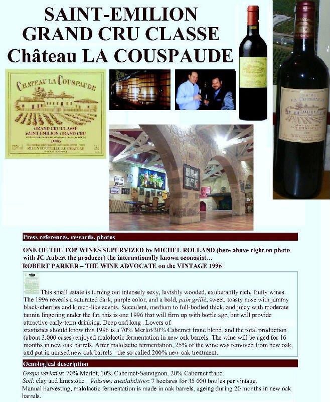 Grand Cru Classe Saint Emilion Chateau La Couspaude products,France ...