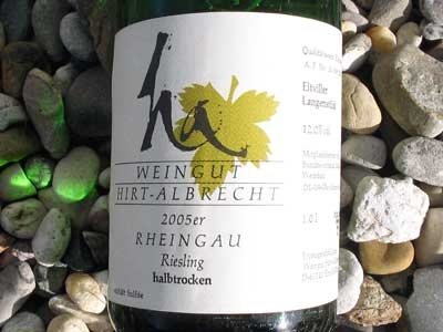 Riesling Bio-White Wine, Germany, Rheingau Semi-Dry