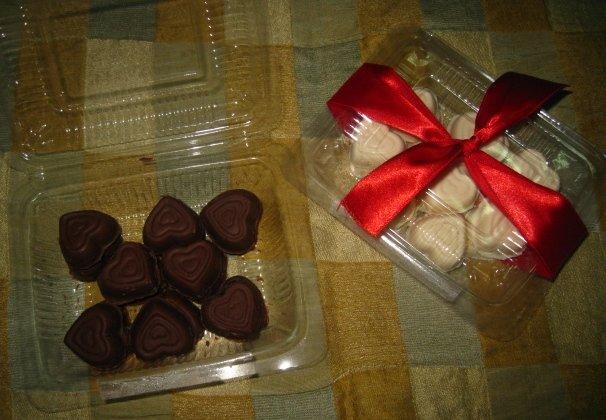 Hearts in Square Box Chocolate