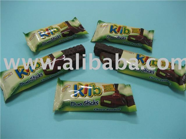 Snack klif duo stick pandan chocolate