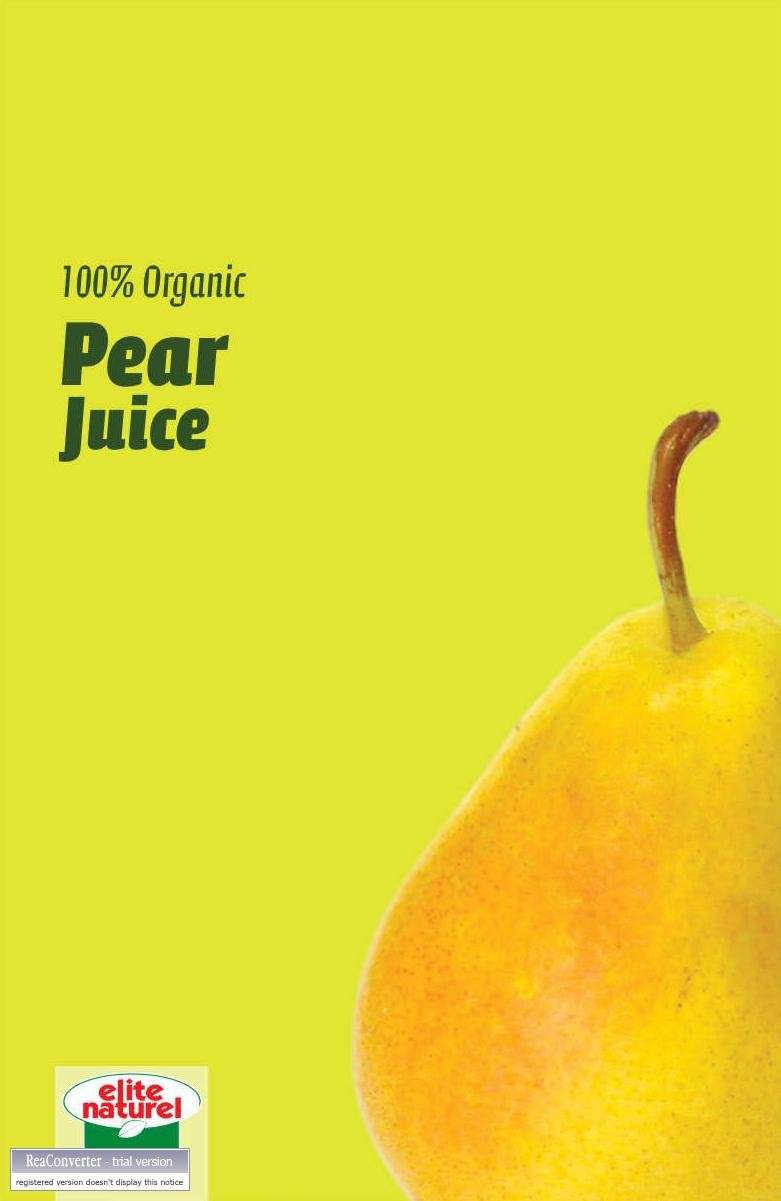 Elite Naturel 100% Organic Pear Juice