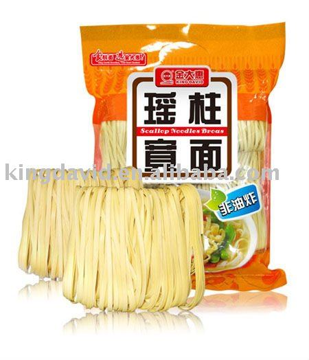 Hand Made Air-dried Scallop Noodles Brcas In Bag