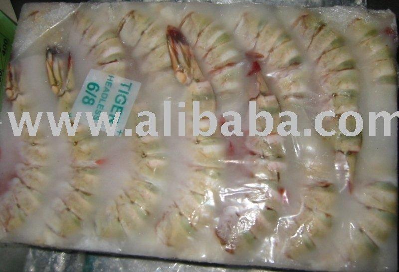 Sea Tiger Head Less Shrimp