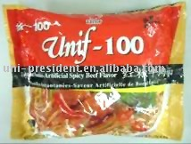 Unif 100 Artificial Spicy Beef Flavor Instant Food