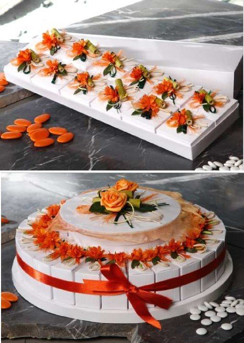 Box wedding favors almonds ou chocolate Lutece dragees