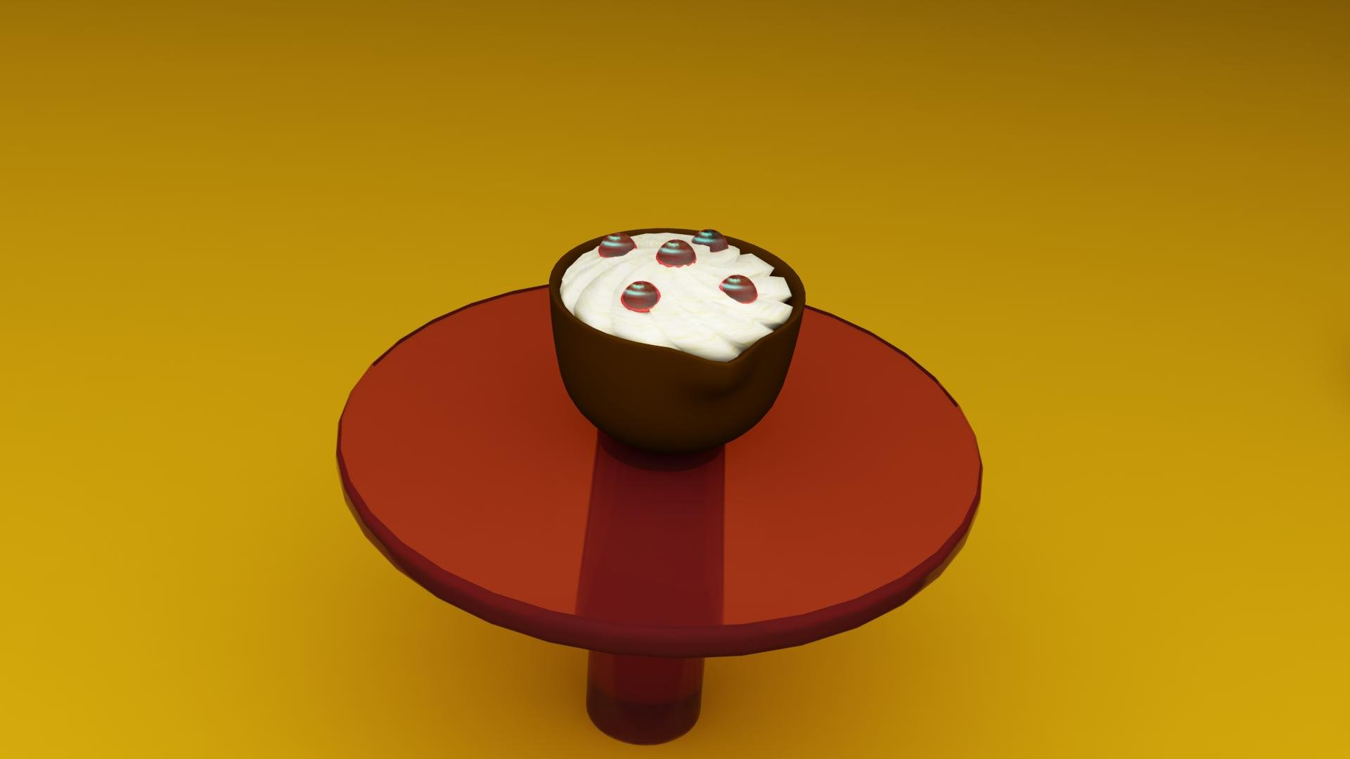 Creasweet chocolate cup filled with marshmallow or cheese and jelly