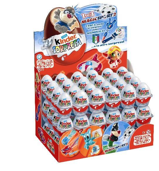 Ferrero kinder surprise chocolate eggs t72
