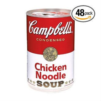Campbell's Red & White Chicken Noodle Soup.