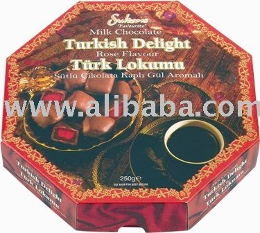 Milk Chocolate  Turkish   Delight   Rose  Flavour