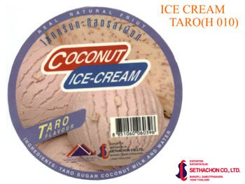 Taro Ice Cream coconut base