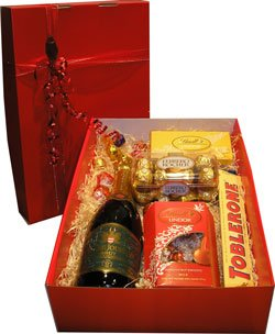 Chocolates And Sparkling Wine Gift Box Products South Africa