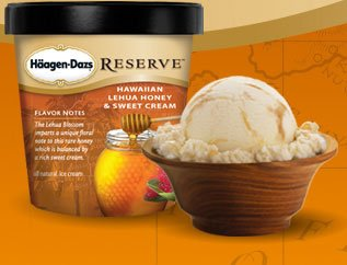 Haagen-Dazs hawaiian lehua honey & sweet cream ice cream