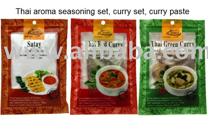 Thai aroma seasoning curry paste set products thailand for Aroma thai cuisine