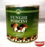 Canned sliced Boletus Edulis mushrooms in natural brine