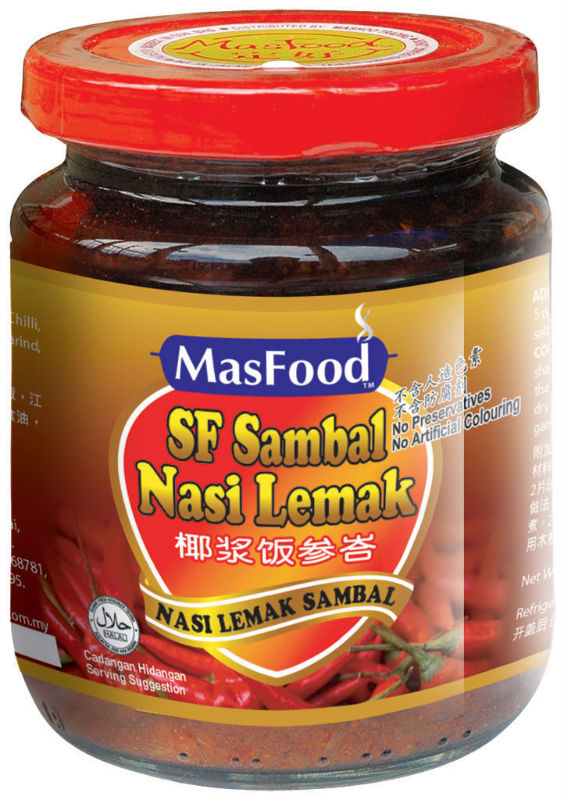 Instant Sf Sambal Nasi Lemak Paste Products Malaysia