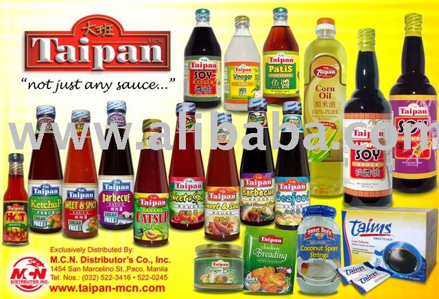 Food Ingredients Condiments Sauces Manufacturer Mail: Taipan Brand Of Condiments & Sauces Products,Philippines