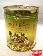 Canned truffled misto bosco  mushrooms  in  oil