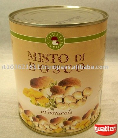 mixed canned mushrooms