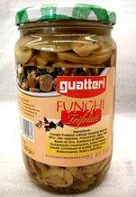Jarred truffed mushrooms in oil