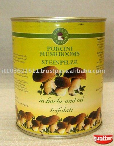 canned boletus edulis truffed mushrooms