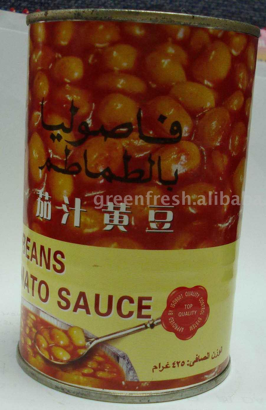 Canned Soy Beans in Tomato Sauce