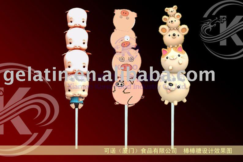 Lovely Pig Marshmallow Candy Pops