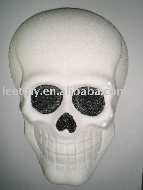 3-D decorated skull shaped Halloween Marshmallow pops