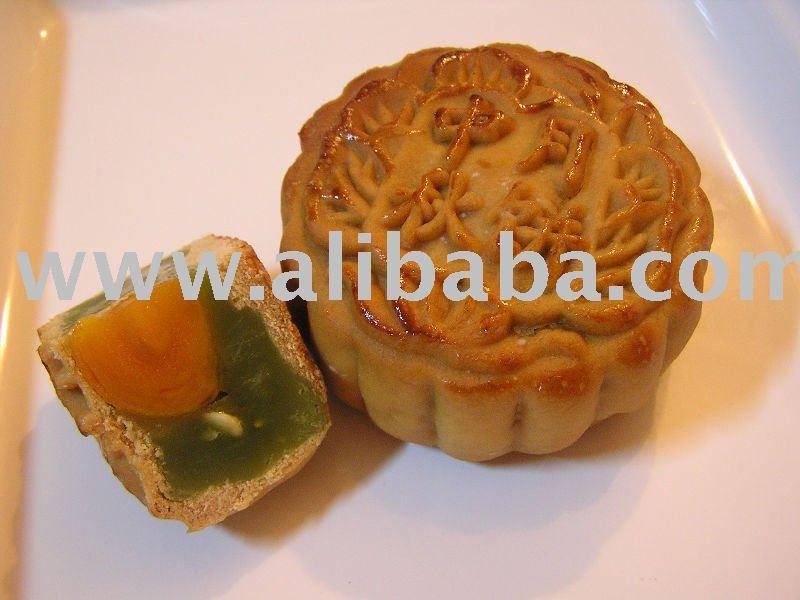 Home-made Pandan Lotus Yolk Moon Cake
