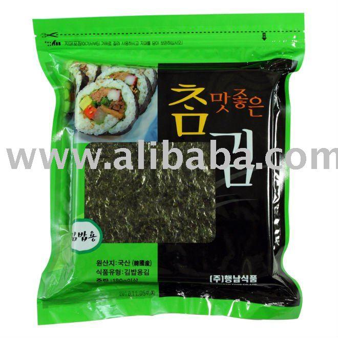 100 sheets  Roasted  Seaweed  laver   Korea  Food Sushi Nori